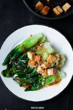 Steamed Pak Choi with Tofu Easy Asian Recipes, Tofu Recipes, Vegetarian Recipes, Healthy Recipes, Veggie Monster, Chinese Vegetables, Steam Recipes, Rabbit Food, Eat Smart
