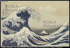 Hokusai, Katsushika (1760-1849) La grande onda a Kanagawa (dalla Serie di trentasei vedute del monte Fuji), periodo Edo (1615-1868), 1830-32 ca. Editore: Eijudo