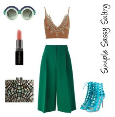 """""""Attention"""" by simplesassysultry on Polyvore featuring Valentino, Lucky Brand, Gianvito Rossi, Smashbox, women's clothing, women's fashion, women, female, woman and misses"""