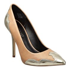 """Boutique 9 pointy toe pump with western detailing at the heel and toe. 4 1/2"""" heel with 1/2"""" hidden platform."""