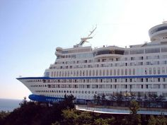 Do you get sea sick?  Try staying here.  Everything you could imagine from a cruise ship that's located on a cliff