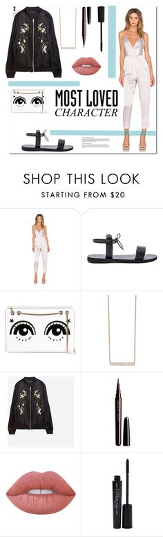 """""""Eleanor Calder"""" by lifeisworthlivingagain ❤ liked on Polyvore featuring Lovers + Friends, Isapera, RED Valentino, Astley Clarke, Zara, Marc Jacobs, Lime Crime and Smashbox"""