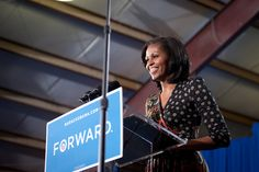 "First Lady Michelle Obama in Leesburg, VA: ""Don't let anyone tell you any differently—elections are always about hope."" Great event, glad to attend and show support for the President and First Lady! Michelle Obama, American Splendor, American First Ladies, Presidential Inauguration, Mr President, Golden Girls, Great Memories, Jfk, Powerful Women"