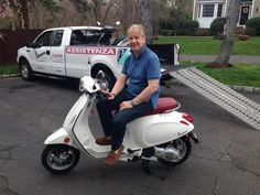 Paolo, originally from Italy and now from Westport, scooped up the first 2015 Vespa Primavera 150 in CT! This newly designed scooter takes many of the stylish designs of the Vespa 946 and replaces the LX150. This bike is SWEET and we know he's going to absolutely LOVE it! #Vespa #VespaHartford #Scooter #ScooterCentrale #Primavera #Fun #Smile