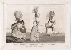 Misss. Dumplin, Ducktail, and Tittup return'd from watering (Lewis Walpole Library) 1778