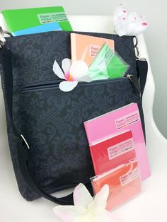 Emilie Sloan bag | Logan Tall Cross Body bag in Montlake Damask Print Have it and LOVE it!