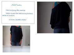 haut en jersey bleu marine (couleur et taille changeable sur demande) envoi possible