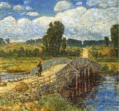 Bridge at Old Lyme  - Frederick  Childe Hassam (1908)