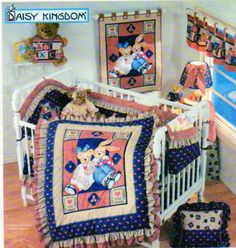 Baby Nursery Sewing Patterns Simplicity 7974 Home Decor Crib Bumper Baby Quilt Wall Hanging Laundry Bag Valance Baby Bib -UNCUT
