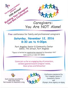 Sign up to attend the 10th Annual Building Your Caregiver Tool Box Conference!