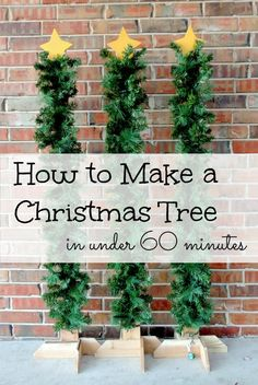 I just love this frugal DIY - How to Make Christmas Tree in under 60 minutes. These fence trees are adorable and are perfect to add to your decor this Christmas.  - Coupon Closet