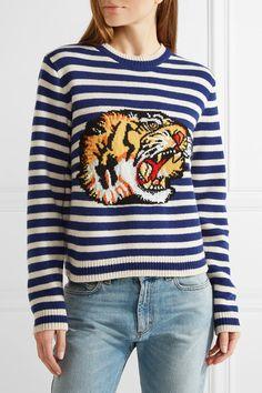 Gucci - Intarsia Wool Sweater - Blue - xx large