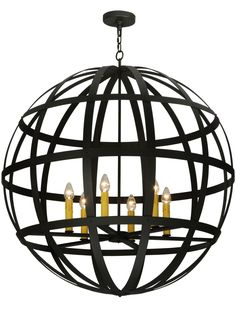 """42 Inch W Atlas Pendant. 42 Inch W Atlas Pendant Theme:  RUSTIC GOTHIC CONTEMPORARY Product Family:  Atlas Product Type:  CEILING FIXTURE Product Application:  PENDANT Color:   Bulb Type: MED Bulb Quantity:  6 Bulb Wattage:  60 Product Dimensions:  51""""-206""""H x 42WPackage Dimensions:  45.000L x 45.000W x 53.000HBoxed Weight:  74 lbsDim Weight:  NAOversized Shipping Reference:  TRUCKIMPORTANT NOTE:  Every Meyda Tiffany item is a unique handcrafted work of art. Natural..."""
