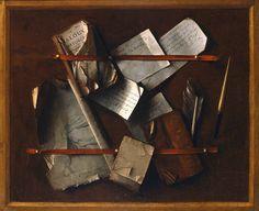 Trompe l'oeil, Cornelis van der Meulen, 1673. Dordrechts Museum