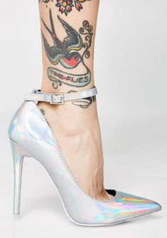 2c5f9005a4eb Second Guessing Hologram Heels