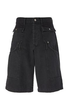 Jacquemus Le Short Pe Cheur Denim Cargo Shorts In Black Retro Outfits, Mode Outfits, Fashion Outfits, Streetwear Fashion, Aesthetic Clothes, My Outfit, Street Wear, Women Wear, Summer Outfits