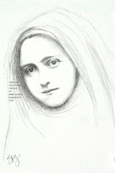 Saint Therese of Lisieux  -Love this print!  I love the simplicity of this drawing.