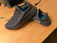 60163c393e95f Athletic Shoes · Adidas Deerupt Runner - Dark Grey - Men s Size - Worn only  3 times  fashion