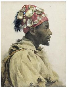"José Tapiró y Baró (Spanish, 1836 - 1913) ~ ""Arab Man"""