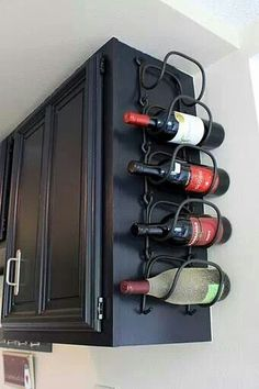 good Idea, maybe not with wine bottles but good thinking, almost any flat space can be used for shelves or other storage