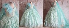 Lace Romper, Tulle Dress, Flower Girl Dresses Teal, Princess Elsa Dress, Rustic Flower Girls, Cinderella Dresses, Handmade Dresses, Newborn Photo Props, Costume Dress