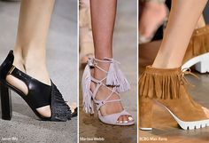 Spring/ Summer 2016 Shoe Trends: Fringed Shoes  #shoes #trends #SS16