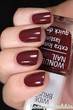 IsaDora - 645 Deep Burgundy #nailpolish