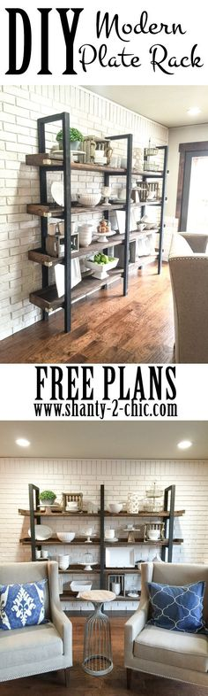 Build a custom DIY Modern Plate for only $95 in lumber! Free printable plans…