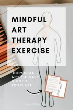 Mindful Body Scan Art Therapy Exercise Hello friends, today, I'll show you how to practice mindfulness & do a mindful body scan through an art therapy exercise. This art therapy exercise will… Mindfulness Art, Mindfulness Activities, Mindfulness Practice, Mindfulness Exercises, Counseling Activities, Art Therapy Activities, Alzheimers Activities, Calming Activities, Art Therapy Projects