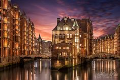 Old Hamburg - The Speicherstadt in Hamburg, Germany is worldwide the biggest warehouse district in the world and was built from 1883-1927. All building are standing on timber-pile foundations.