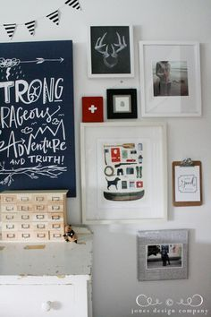 I love everything about this boy's room!