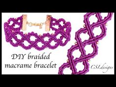DIY braided macrame bracelet - YouTube