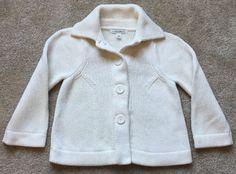 Banana Republic Women's Creme White Cotton 3 Button Knit Cardigan Sweater XS P   eBay