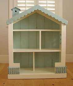 precious dollhouse bookcase- I want Mom and Dad to make this for Elli!