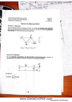 RDM examens solution Genie, Discipline, Sheet Music, Chart, Calculus, Exercises, Music Sheets
