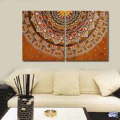Cuadros Decorativos Modernos. Originales. MANDALA! Mandala Canvas, Mandala Painting, Dot Painting, Wooden Wall Art, Diy Wall Art, Canvas Wall Art, Mandala Art Lesson, Islamic Art, African Art