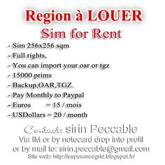 Location region opensim, Sim full perm opensim for rent ~ SirinHGpole