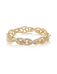 Textured Chain Stretch Bracelet