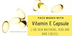 21 Vitamin E Capsules Face Masks for Skin Whitening Dark circles and Acne: These are the 21 Best DIY Face masks with Vitamin e capsules for skin whitening, dark circles, acne and other skin problems. Try them for a beautiful skin. Acne Face Mask, Face Skin, Face Masks, Face Face, Cleanser For Combination Skin, Natural Skin Whitening, Whitening Face, Vitamin E Capsules, Beauty Tips For Glowing Skin