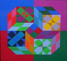 View Lapidaire by Victor Vasarely on artnet. Browse more artworks Victor Vasarely from Bethesda Fine Art. Victor Vasarely, Josef Albers, Kinetic Art, Funny Tattoos, Art Moderne, Art Abstrait, Global Art, French Artists, Famous Artists