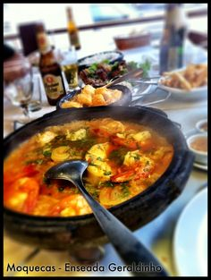 Moqueca is a dish that originated in this region of Brazil over three hundred years ago. It is a tomato based fish stew with onions, cilantro, and olive oil that can have a number of combinations of seafood. The dish holds special favor in Vitoria not only because it originated here but the city is also home to an organization of pan makers who make the Capixaba pans the dish is slowly cooked in.