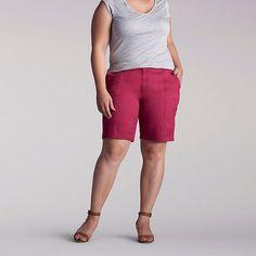 Lee Women's Delaney Kw Bermuda - Plus Size::16W:M Shorts