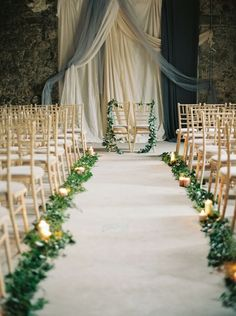 #aisle-decor, #garland Photography: Laura Gordon Photography…