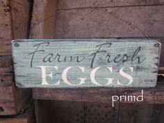 kitchen sign for when we (someday) have live chickens :)