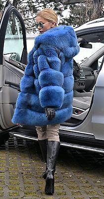 Bleu Royal saga fox fur coat capuche comme veste sable Mink Lynx Silver Chinchilla