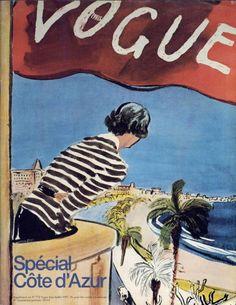 Couverture de supplément Vogue Paris spécial Côte d'Azur juin/juillet 1997.