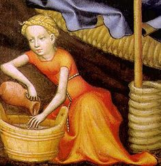 The Nativity (detail); Master of Salzburg; c. 1400; tempera on walnut; Galerie mittelalterlicher österreichischer Kunst, Vienna
