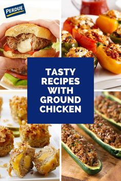 Ground chicken can be a great alternative to red meat. Slow Cooker Pressure Cooker, Slow Cooker Freezer Meals, Slow Cooker Roast, Ground Chicken Recipes, Easy Chicken Recipes, Organic Soup, Tasty, Yummy Food, Dinner Salads