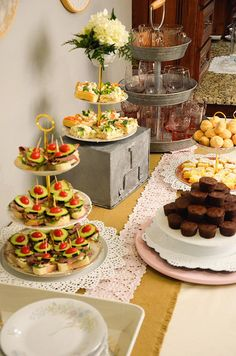 We did a mix of appetizers and desserts to keep all of the guests happy and coming back for seconds.