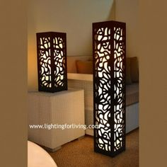 MDF LAMPS (10 fotos) Laser Cut Lamps, Laser Cut Wood, Lantern Crafts, Pillar Lights, Modern Tv Wall Units, Bamboo Light, Candle Wedding Centerpieces, Wood Lamps, Night Lamps